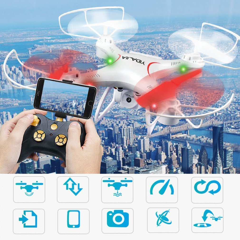 Fixed Height Helicopter WIFI FPV RC Drone With 0.3MP Camera 2.4g 6-Axis Radio-Controlled Drone Folding Quadcopters