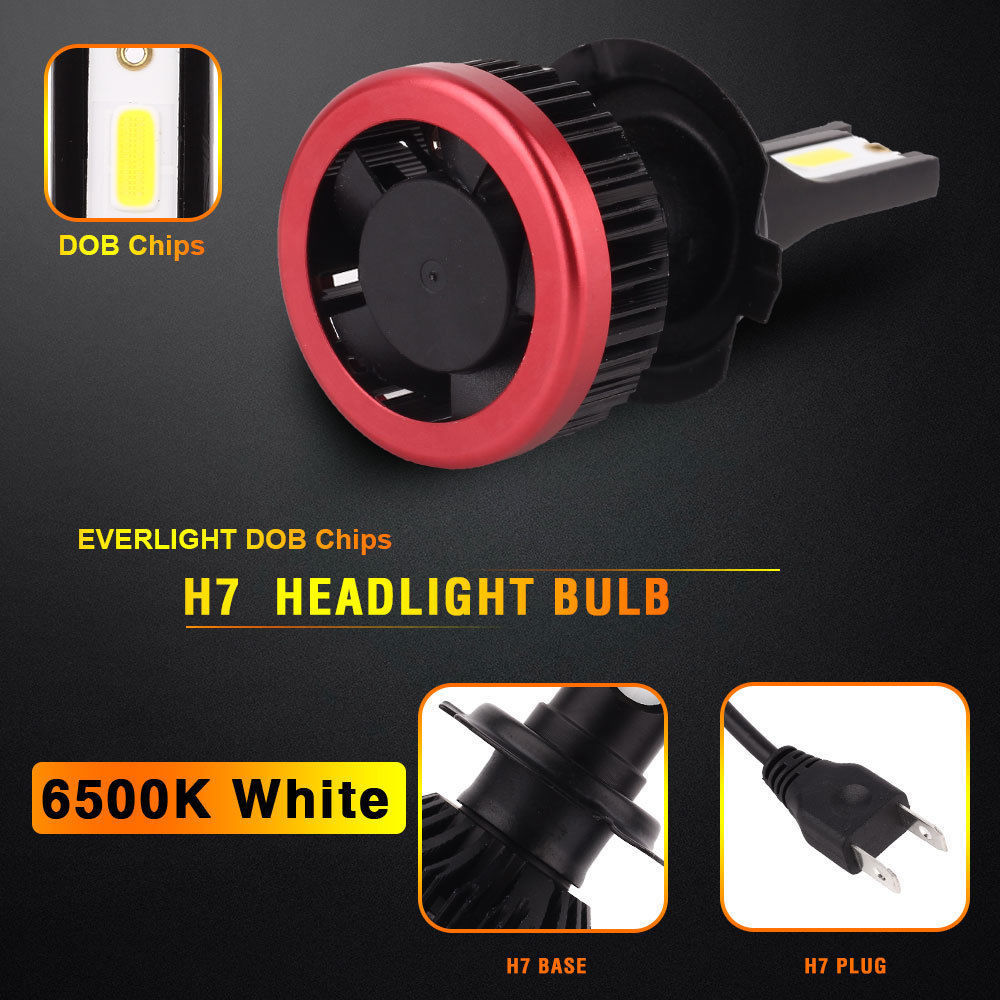 10pairs H7 LED Headlight Bulbs H1 H3 HB3 HB4 H8 H11 Mini Size Car Lights 10000LM 50W 6500K DOB H4 Headlamp Fog Light 12v24v (6)