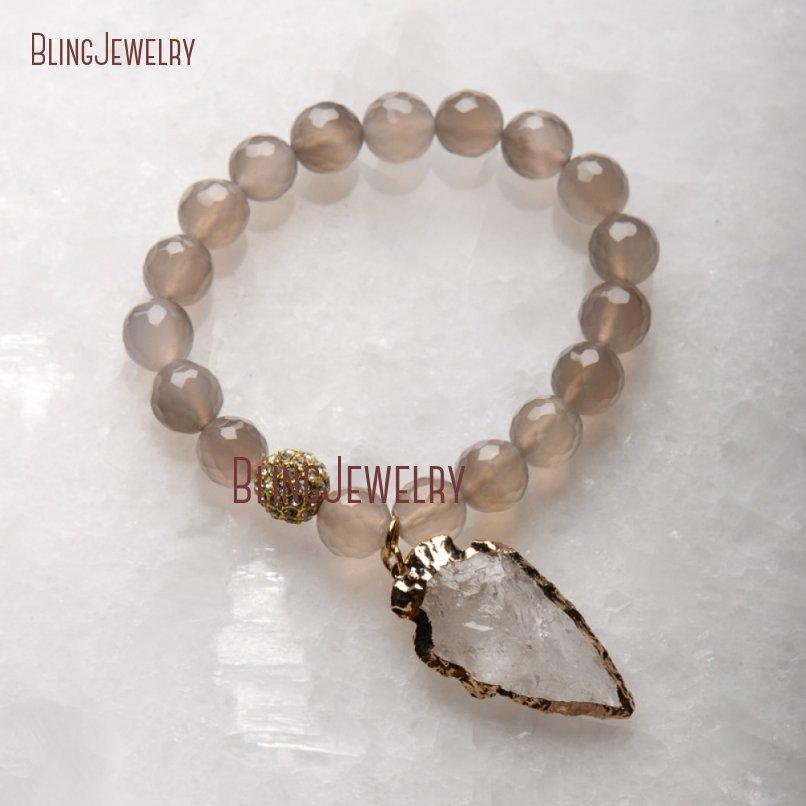 20181201-BM17426-Latest Arrowhead Clear Crystal Bracelet On Sale_19