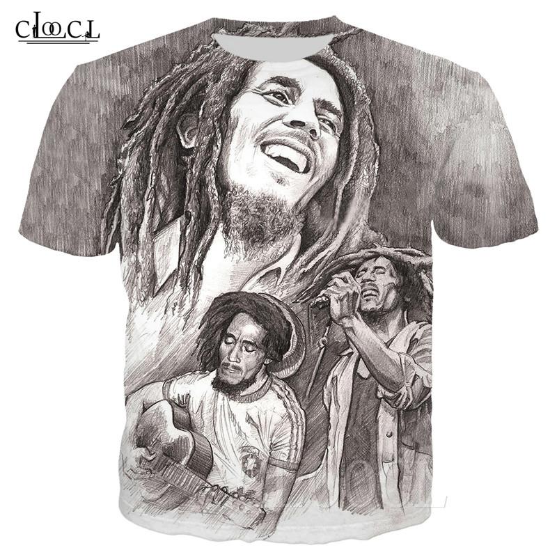 WEY T-Shirt Rock-Godfather Bob Marley Print Maglietta Casual Maglietta Unisex