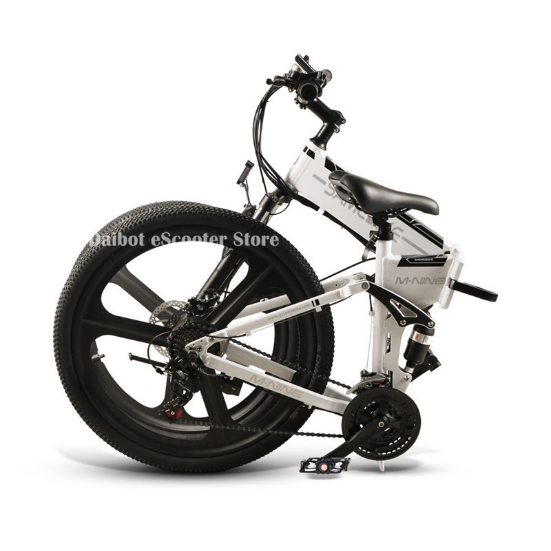 Powerful Electric Bicycle 2 Wheels Electric Bicycles 21 Speed 35KMH 48V 350W Folding Electric Scooter With Removable Battery (9)