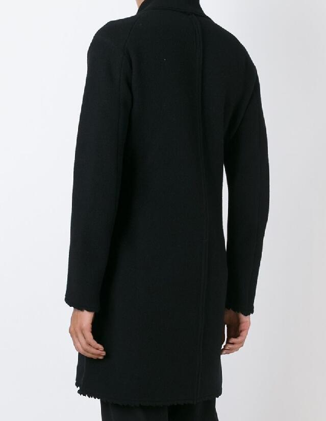 Tootless-Men Oversize Popular Silm Mid-Long Full Length Business Pea Coat Jacket