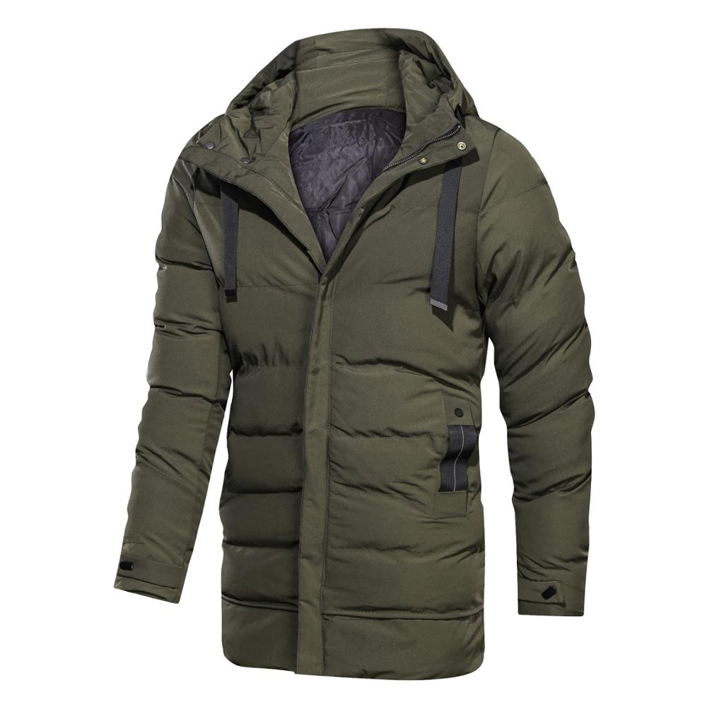 YYG Mens Winter Plus Size Relaxed Fit Thicken Hooded Down Quilted Coat Jacket Overcoat