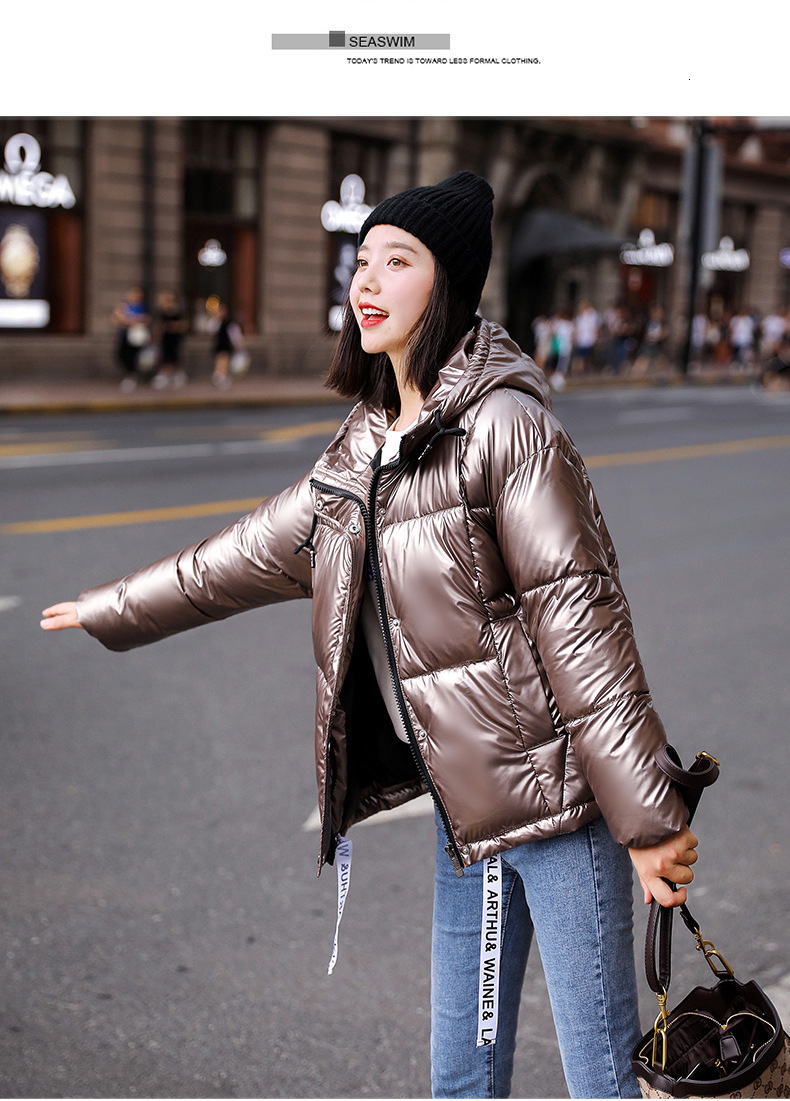 WUAI Clearance Sale Women Hooded Jacket Winter Warm Casual Outdoors Coat Fashion Fur Collar Lightweight Outwear
