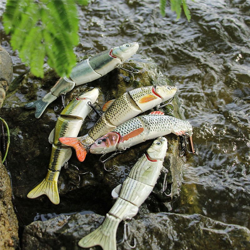 1PC Fishing Lures 15.5CM Plastic Hard Bass Baits 5 Colors Lures fake fishing bait #2G30 (8)