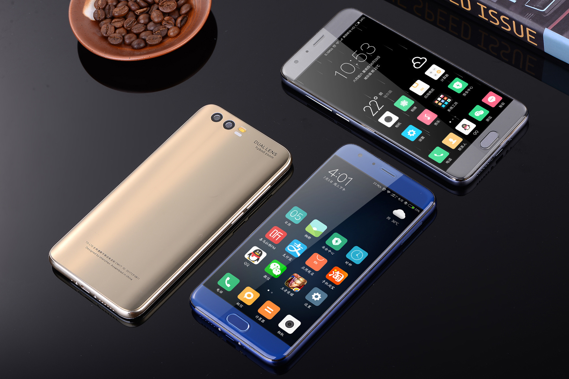 Unlocking Mobile Phone Intelligence Curved Screen 6 Inch Domestic Quality Goods Double Card Double Camera Move Telecom 4g Full Cnc