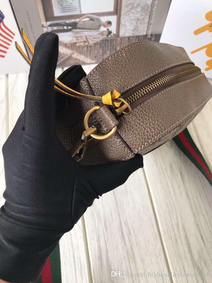 Hot Classic Colors Brwon Letter Logo Leather Women Shopping Bag Fashion Men Leather Shouler Bag 476466