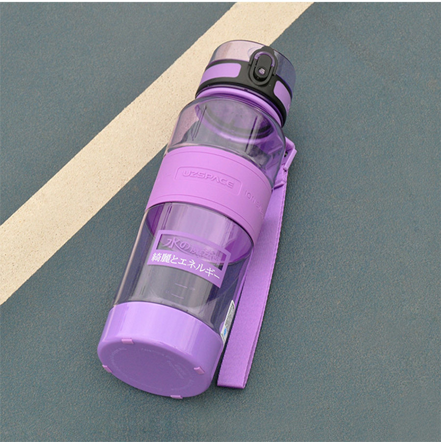 11UZSPACE 1000 ml Water Bottle Portable Leakproof Eco-friendly Sports Hiking Tea My Drink Bottle Large Capacity Kettle With filter