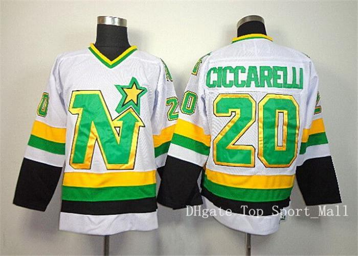 buy popular 3176a ba5bf 2018 20 Dino Ciccarelli Jersey Dallas Stars Retro Ice Hockey Jerseys For  Sport Fans All Stitched Team Color Green White From Dickssportinggoods, ...