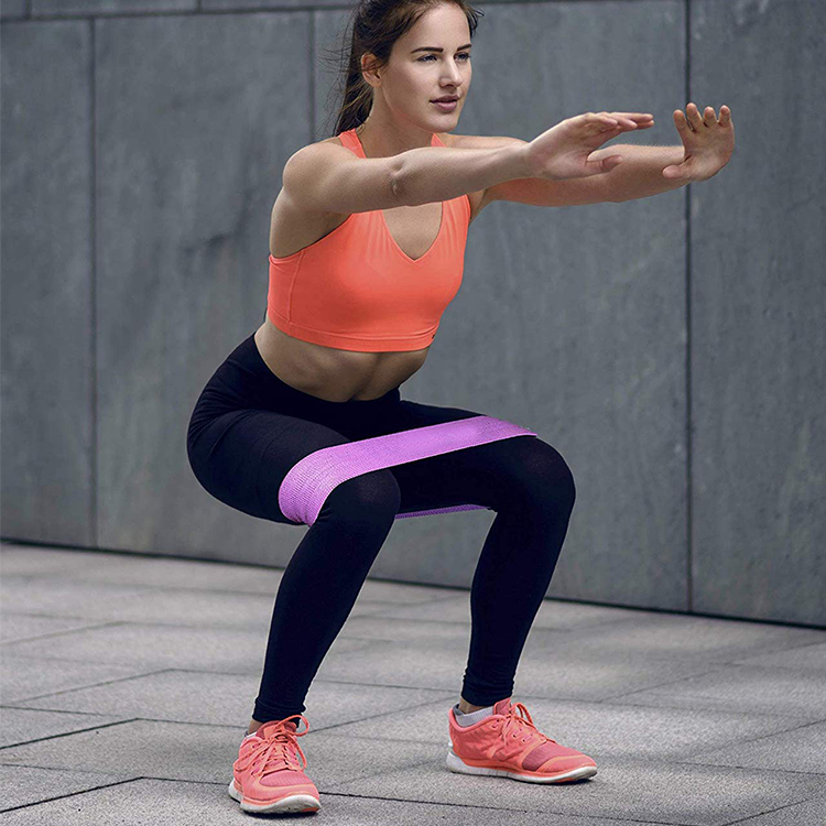 Custom Logo Yoga Gym Exercise Booty Hip Fabric Resistance Bands