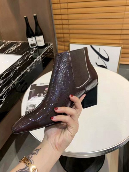 2019 New High-heeled woman shoes Spring soft cowhide high heeled boots Designer luxury Leather Short Boots Fashion boots size