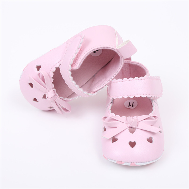 FashionNewborn Infant Baby Girls Crib Shoes Soft Sole Anti-slip Sneakers Bowknot Shoes NDA84L16 (8)