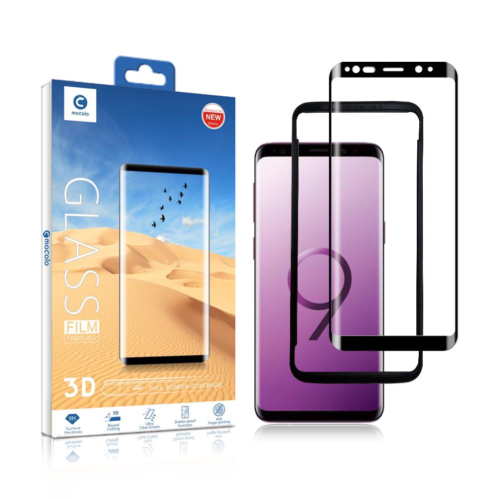 Toptan samsung s9 artı cam koruyucu için 3d Kavisli Tam Kapsama Temperli Cam s9 artı Kurulum Tepsisi ile koruyun