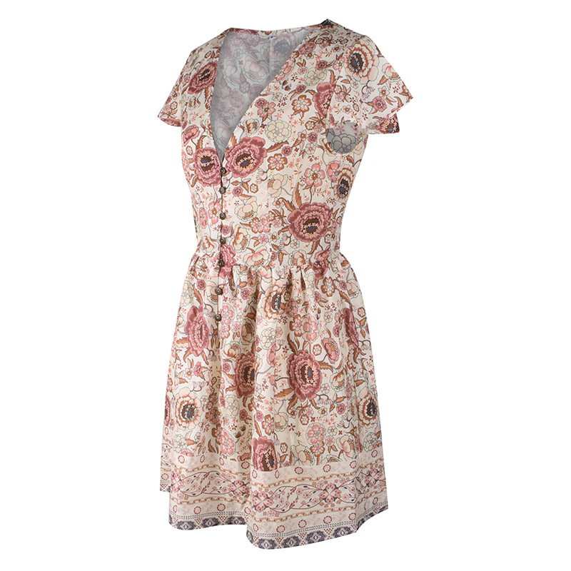 Forefair Retro Boho Dress Mini Summer (19)