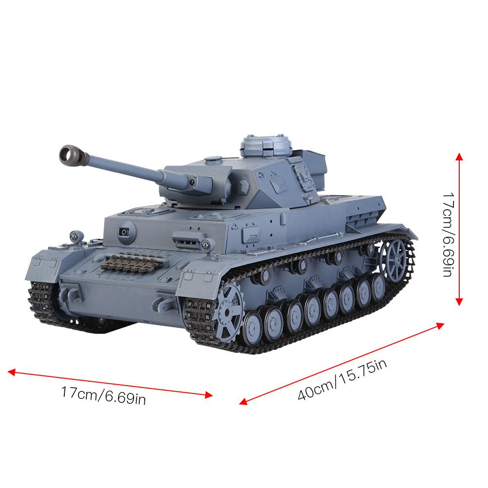 Heng Long 3859 1 Tank 2 4GHz 1/16 Scale PANZER IV F2 High Simulated Model  RC Tank Anti Impact Durable Toy For Children Gifts Rc Car Kits Hobby Remote