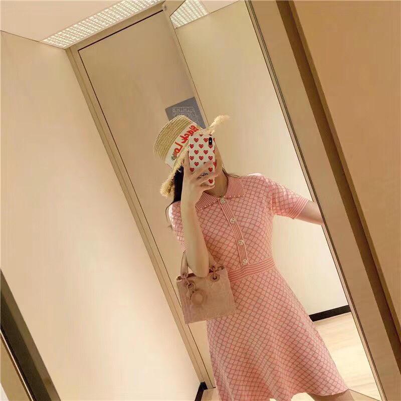 ropa de mujer camiseta larga sexy vestido suave y cómodo vestido de mujer con estampado de letras vestido de suéter de cuello redondo vestido de rayas de manga corta de verano fv1