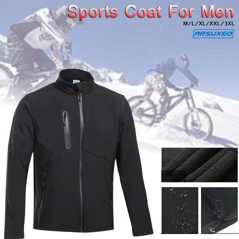 Uomo Giacca in Pile CICLISMO MTB BICI Frangivento IMPERMEABILE biciclette Riding Coat