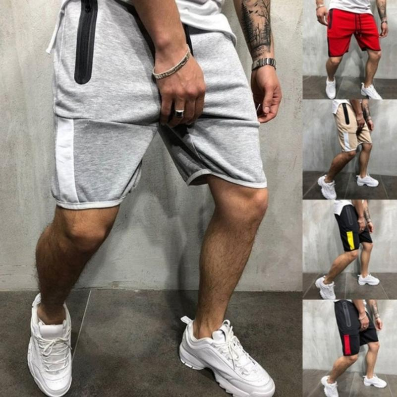 InnovativeVersionSin Summer Leisure Knee Length Shorts Color Joggers Short Sweatpants Trousers Men Shorts
