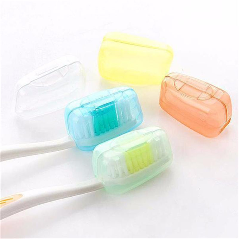 3pcs Silica Gel Toothbrush Head Caps Anti-bacteria Cover Holder Camping Trip