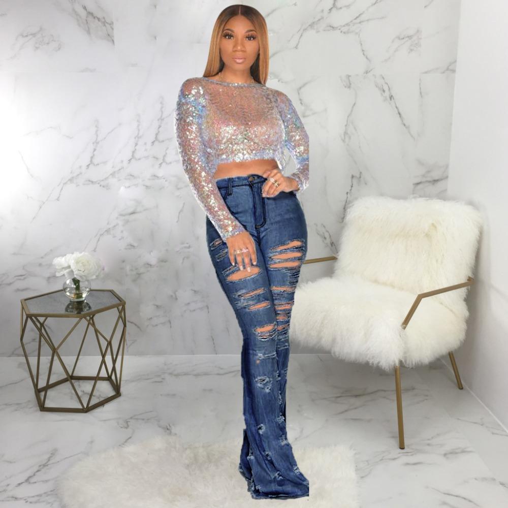 New Design fashion women Blue Color Jean Boot Cut Pants Casual Street Lady Long Denim Pants Sexy Club Wide Leg Jeans (16)