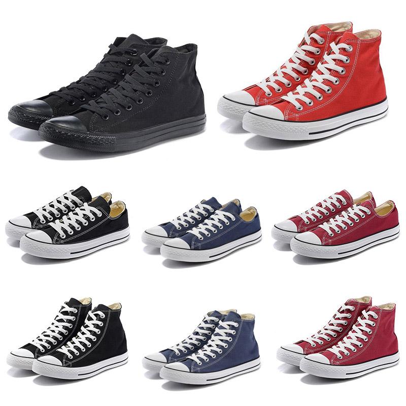 ConverserToile toutes les chaussures étoiles Noir Blanc High Star Low  chaussures pour hommes occasionnels femmes hommes entraîneurs sportifs  sport ...