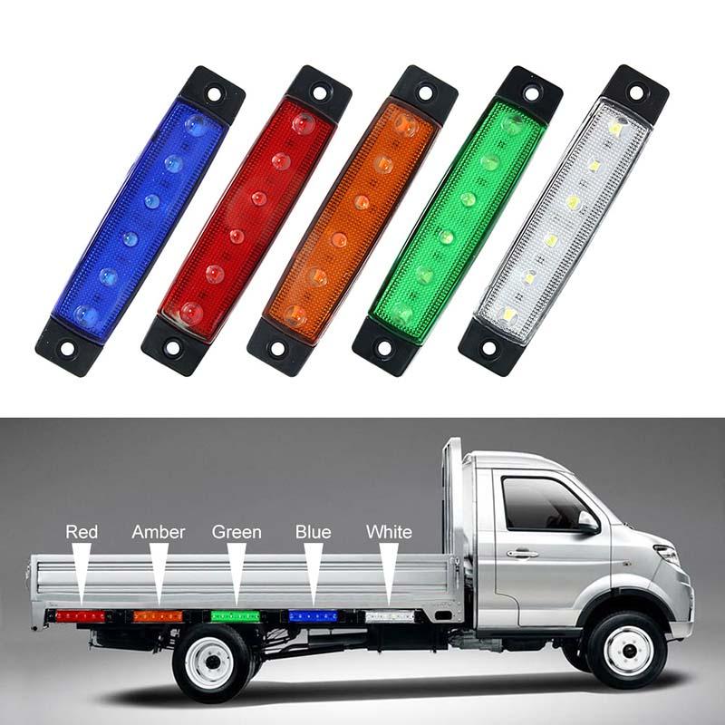 24v TE hot 4 x led feux de position lat/éraux blanc rouge contour lampe van camion remorque van 12v