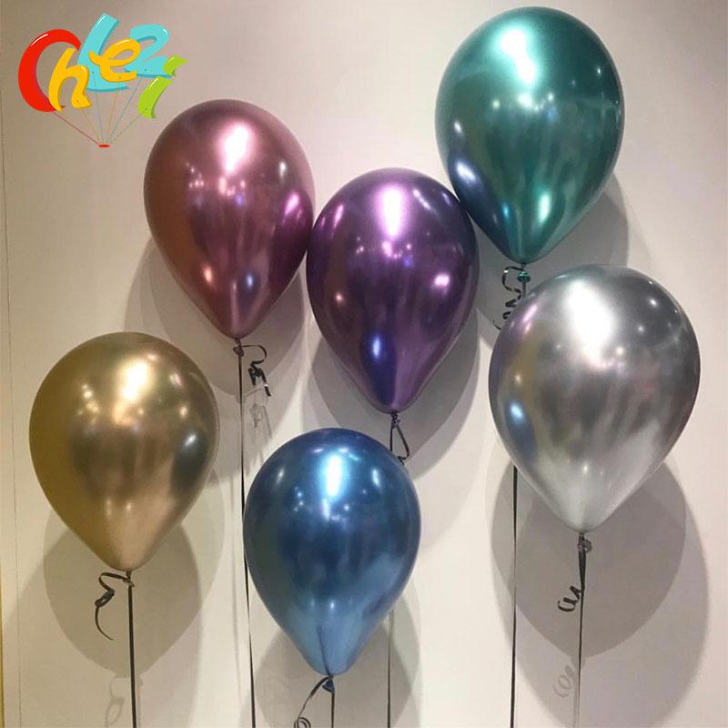 """10 Piezas Globos Qualatex De Lunares oro Helio Calidad del Aire Cumpleaños Env 12/"""""""
