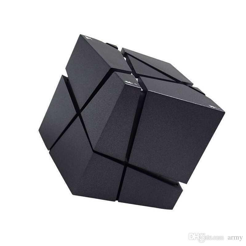 Qone mini oradores do cubo 3d som estéreo portátil bluetooth speaker caixa de música sem fio suporte tf cartão com caixa de varejo melhor carga 3