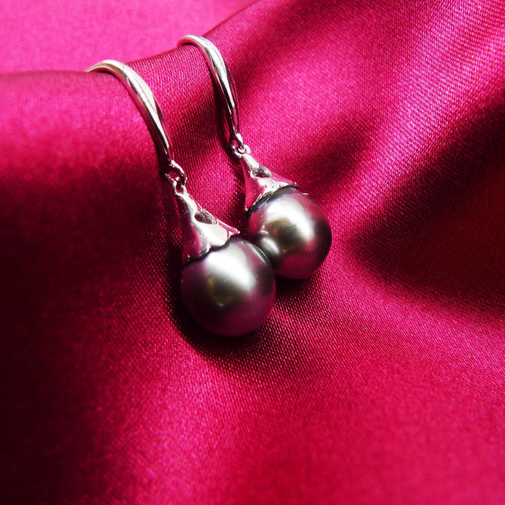 Tahiti Pearls 925 sterling silver earrings