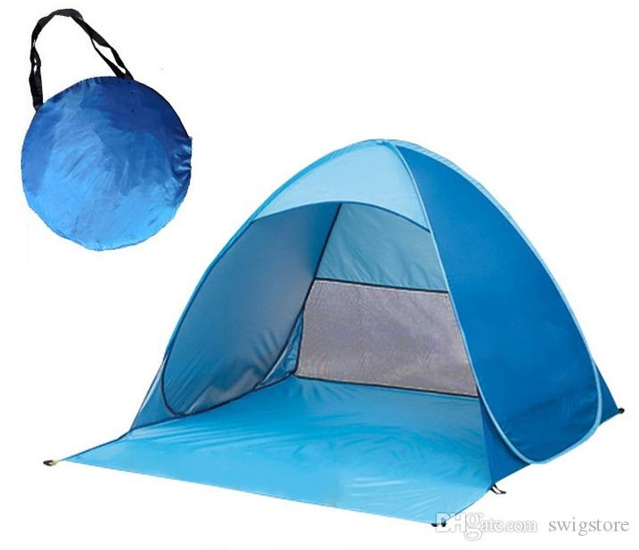 Protection UV Plage Ombre Lixada Automatique Pop Up Plage Tente Sun Shelter Cabana pour 2-3 Personnes UPF50