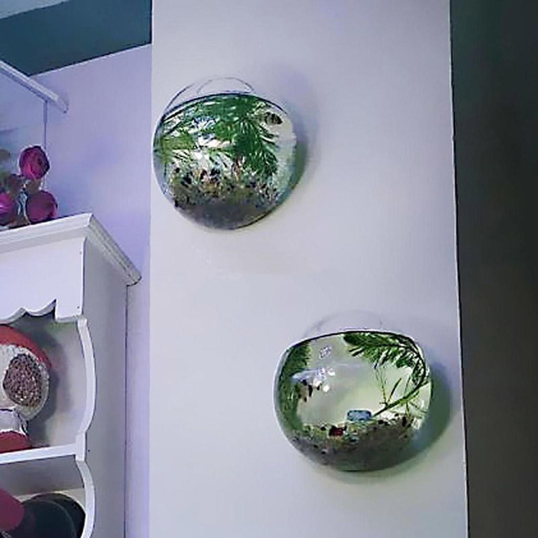 New Hanging Plant Flower Transparent Glass Hydroponic Vase Terrarium Wall Fish Tank Aquarium Decor Fish Bowl New Fashion Terrarium Vase