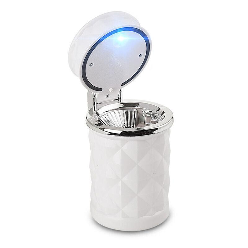 Luoem Ashtray Smokeless Auto Cigarette Ash With Blue Led Light For Car Cup Holder C19041901