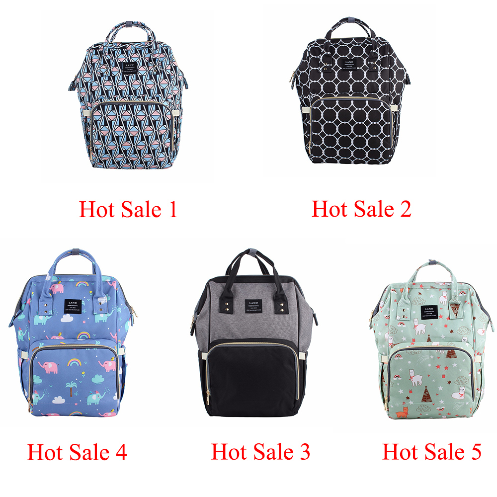 LAND-Diaper-Bag-Big-Maternity-Baby-Bags-Backpack-for-Mom-Large-Waterproof-Nappy-Fashion-Mummy-Bag