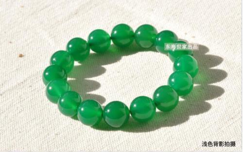 Chinese 100% Natural Agate Green Beads Bangle Stretchy Bracelet 6mm--14mm Jewelry Gift Wholesale