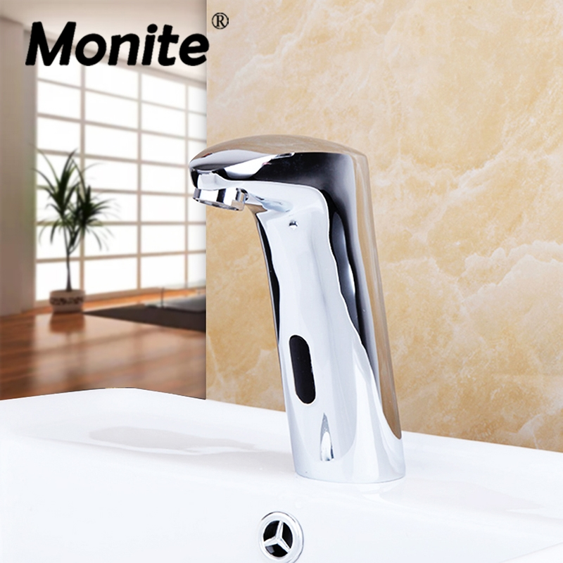 New Arrival Automatic Sensor Faucet Bathroom Basin Sink Faucet Water Mixer Tap Touch-Free Infrared Basin Tap &Tap Deck Mounted