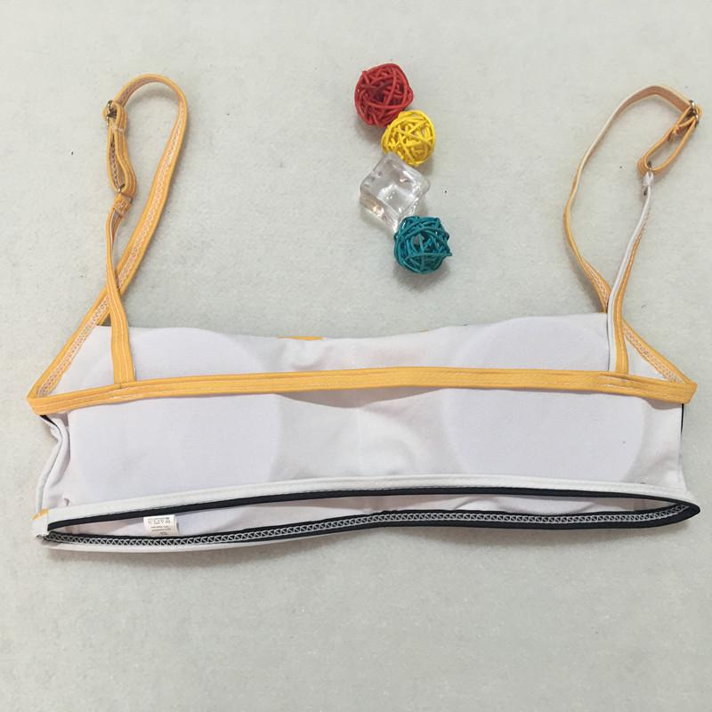Striped Lace Up Bandage Strap Two Piece Set Slim Sexy Women Beach Bikini Swimsuit Swimwear Lingerie Lenceria Bra Bathing Suit