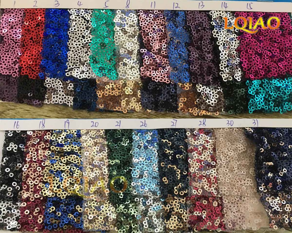 Mix Sequin Fabric Color Card