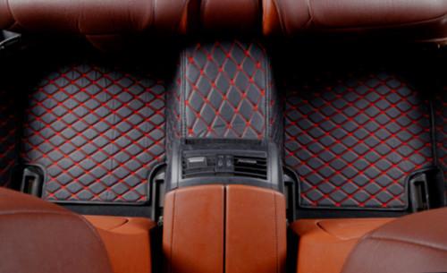 TOYOTA Aygo 2013 à partir sur mesure tapis de voiture noir avec bordure orange