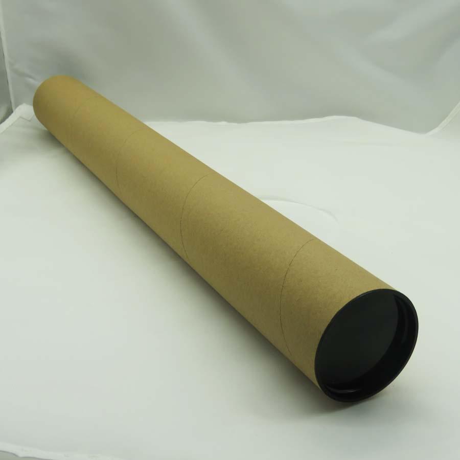 простой крафт-постер рассылка упаковка бумажная трубка с черными пластиковыми крышками