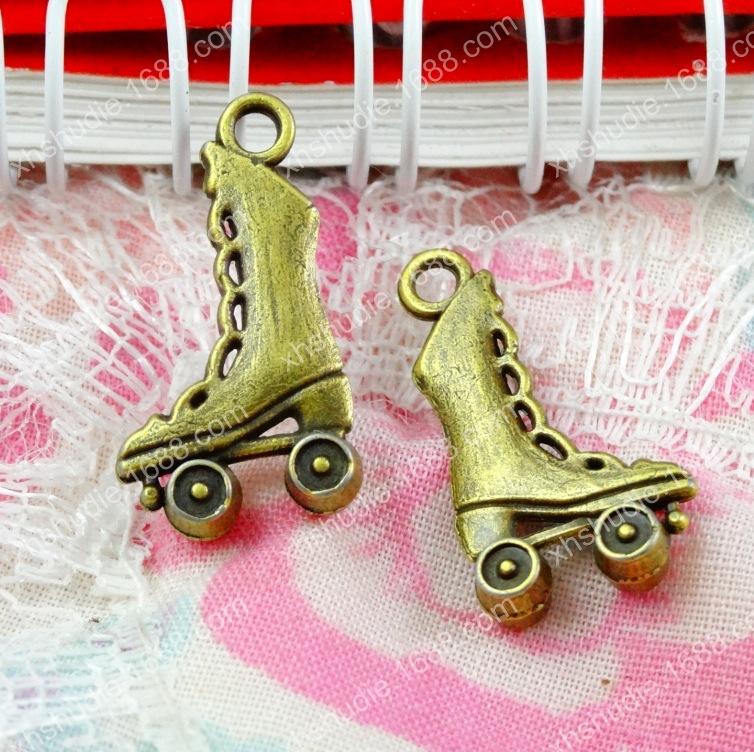 Tibetan bronze Tone Roller Skate pendant 21x12mm 20pcs--Roller Skate Charms