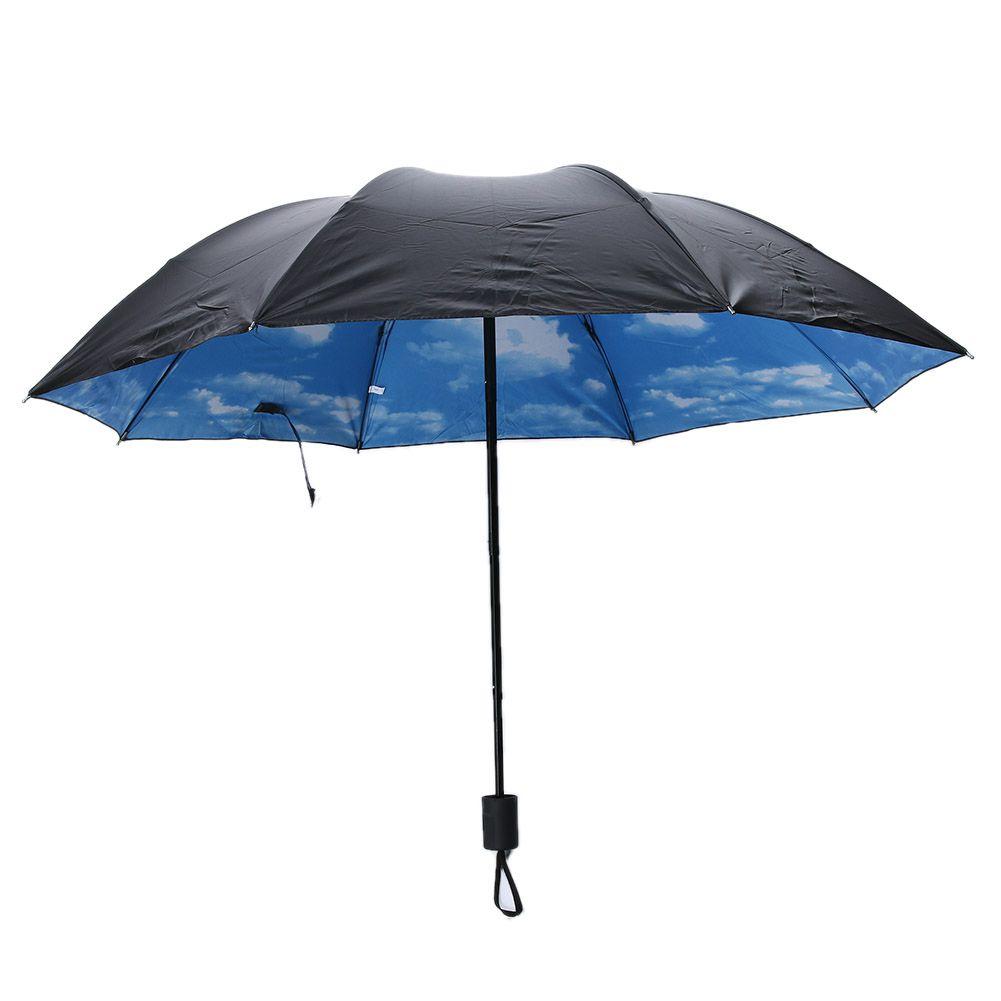 Sombrilla de lluvia plegable de verano Sombrillas anti-UV a prueba de lluvia C4