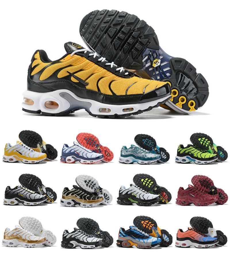 Designs 2019 TN Original Air Plus Chaussures Noir Cheap MESH respirante Tn Chaussures OG Ultra Chaussures de sport de jogging Basketball Tns