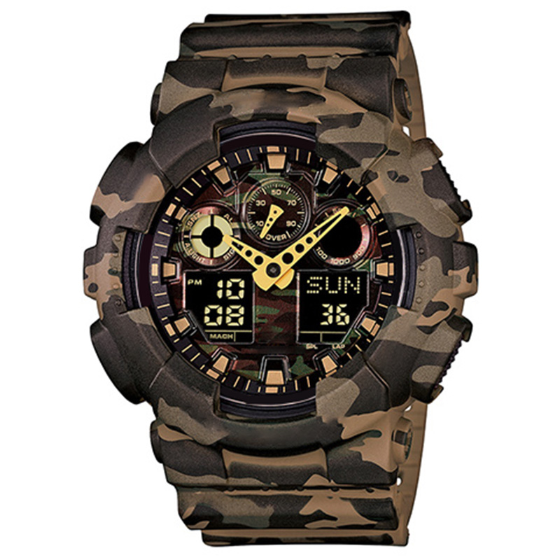 New style men's new watch men's outdoor watch sports absorption men's LED digital quartz clock gift for boys 110 oak watches