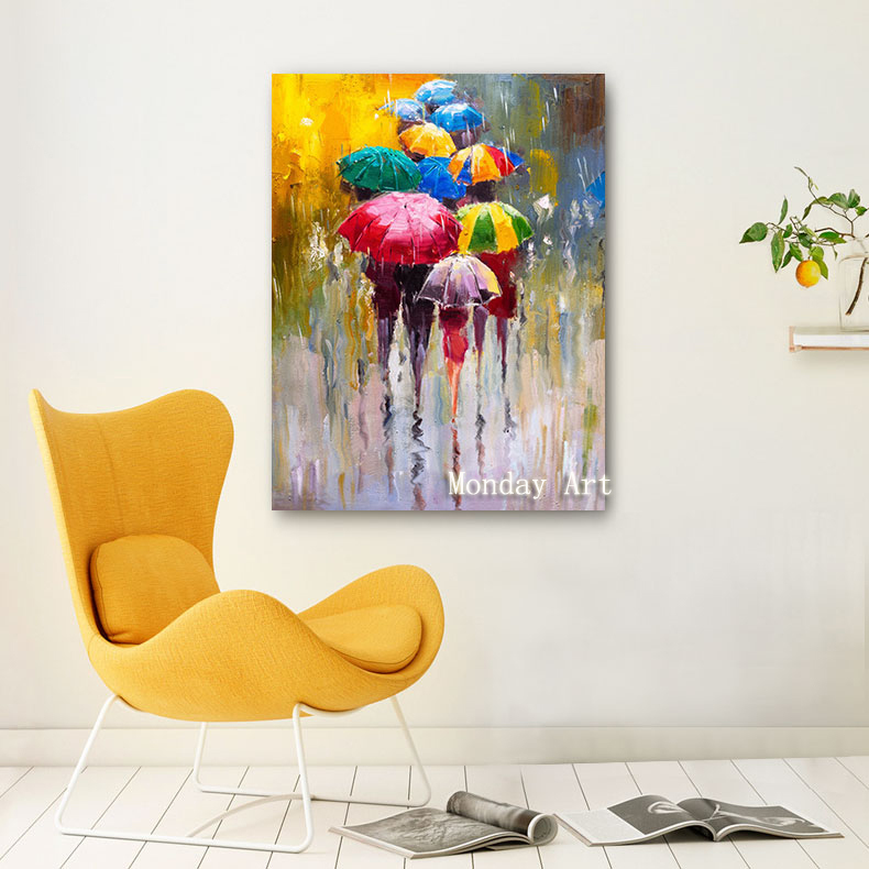 355 1 Pieces Rainy Day HD Print Canvas Oil Paintings For Home Decor Quality Wall Art Posters Living Room Framed Pictures