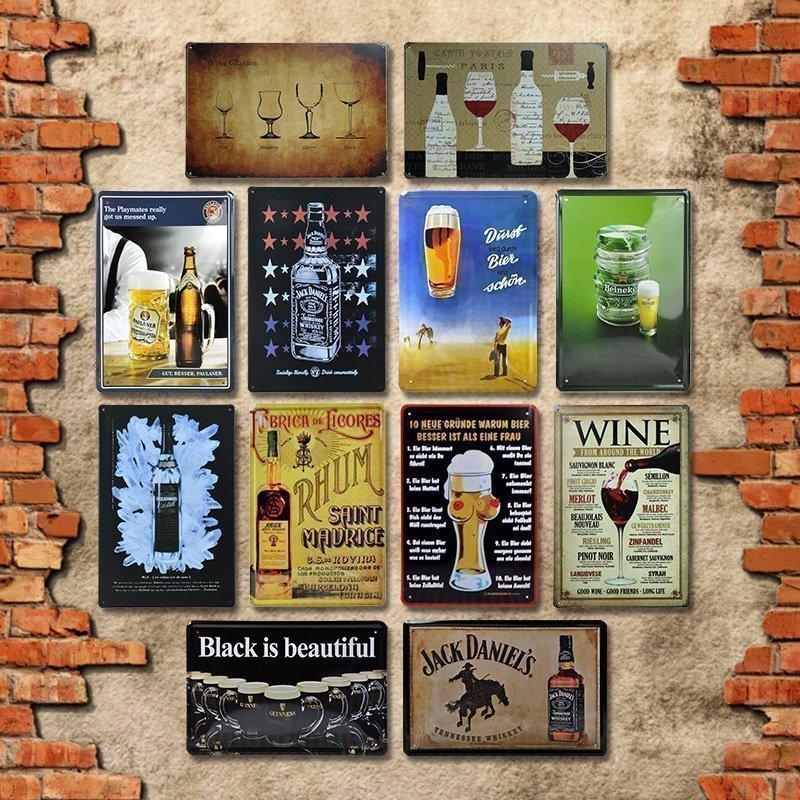 Retro Vintage De Pared Placa//Letrero De Metal//Bar Regalo Absolut Mandril vodka