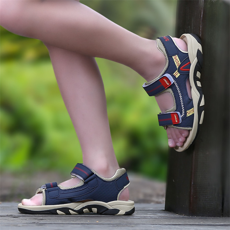 2020 Summer Boys Sandals Kid Sandals Children Shoes Cut-outs Rubber School Shoes Breathable Open Toe Casual Boy Sandal (15)