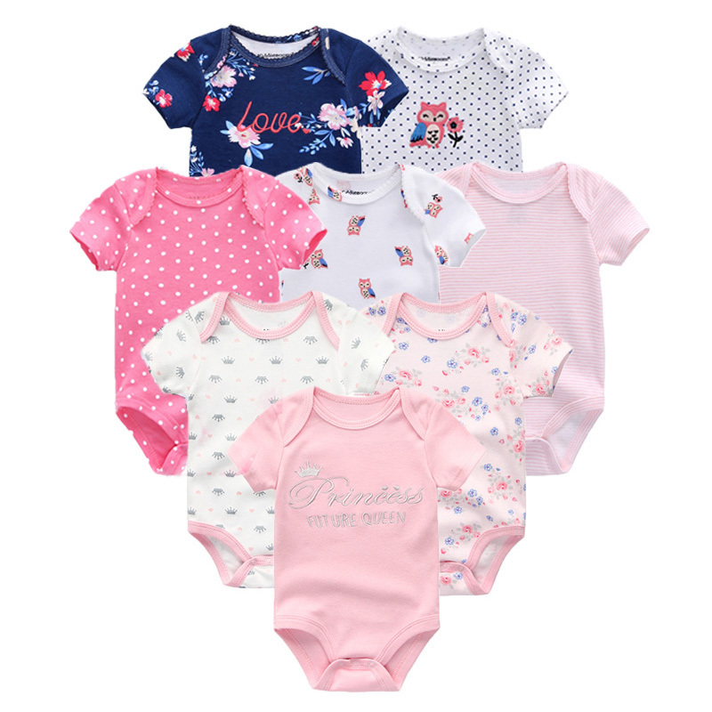 2019 Clothing Sets Cotton Newborn Unicorn Baby Girl Clothes Bodysuit Baby Clothes Ropa Bebe Baby Boy Clothes Y19050801