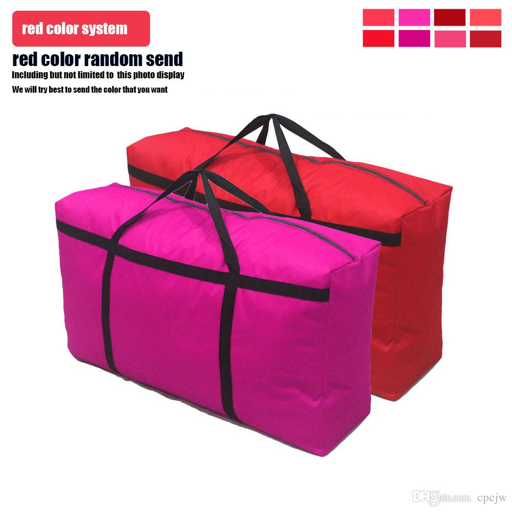 high quality extra large Thickened waterproof Outdoor Oxford cloth woven bag luggage pack travel bag large Duffel Bags 90 * 50 * 27cm