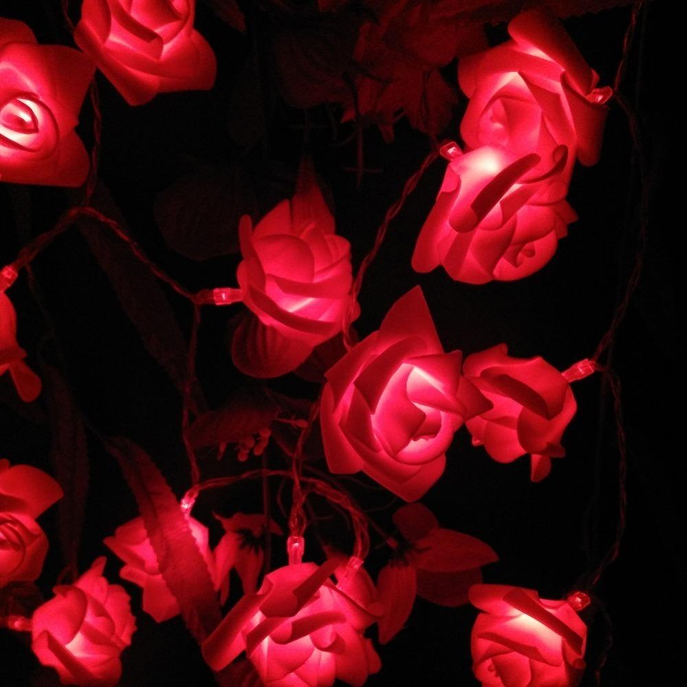Solar String Lamps 20 LED Flower Blossom Rose Decorative Lights Waterproof Fairy Garden Outdoor Indoor Wedding Christmas (22)