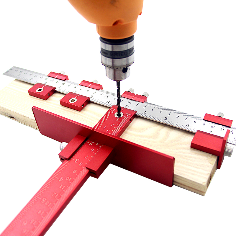 Punch guide de perçage Guide Manche Cabinet Hardware Jig Pull Jig Bois Forage Kit